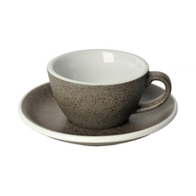 Loveramics Egg - Flat White 150 ml Cup and Saucer  - Granite