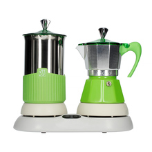 G.A.T. Gatpuccino 4tz Electric Moka Pot with a Frother - Green