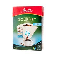 Melitta Gourmet Mild Paper Coffee Filters 1x4 - Brown - 80 pieces