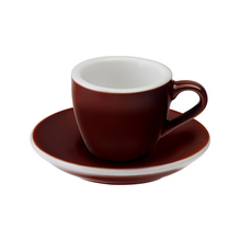 Loveramics Egg - Espresso 80 ml Cup and Saucer - Brown