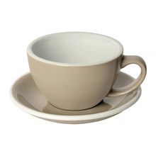 Loveramics Egg - Cafe Latte 300 ml Cup and Saucer - Taupe