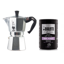 Set: Bialetti Moka Pot + Coffee