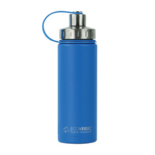 EcoVessel - Insulated Water Bottle Boulder - Hudson Blue 600 ml