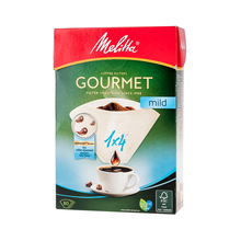 Melitta Gourmet Mild Paper Coffee Filters 1x4 - White - 80 pieces (outlet)