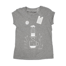 Coffeedesk AeroPress Women's Grey T-shirt - S