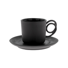 ENDE - 100ml Cup and Saucer - Espresso Wire - Black