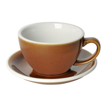 Loveramics Egg - Cafe Latte 300 ml Cup and Saucer - Caramel