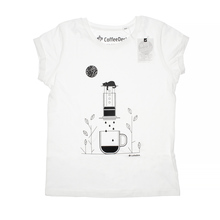 Coffeedesk AeroPress Women's White T-shirt - M