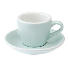 Loveramics Egg - Espresso 80 ml Cup and Saucer  - River blue