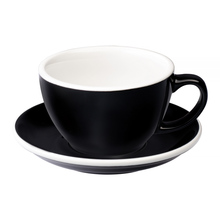 Loveramics Egg - Cafe Latte 300 ml Cup and Saucer - Black