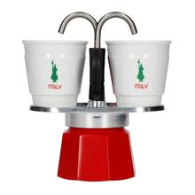 Bialetti Mini Express 2tz Italia + 2 cups