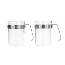 Barista & Co - Metal Framed Cups Steel - Set of 2