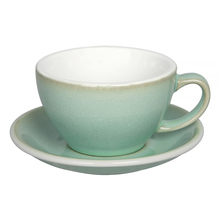Loveramics Egg - Cafe Latte 300 ml Cup and Saucer - Basil