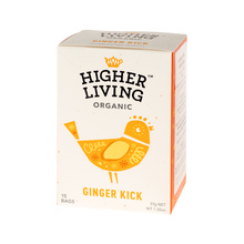 Higher Living Ginger Kick - tea - 15 teabags