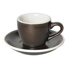 Loveramics Egg - Espresso 80 ml Cup and Saucer  - Gunpowder