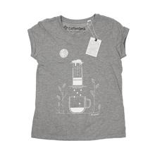 Coffeedesk AeroPress Women's Grey T-shirt - XL