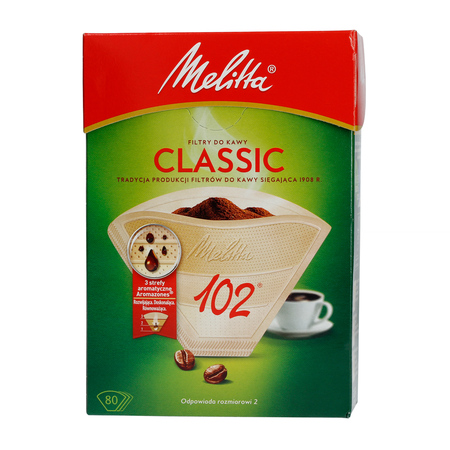 Melitta Paper Coffee Filters 102 - Classic - 80 pieces