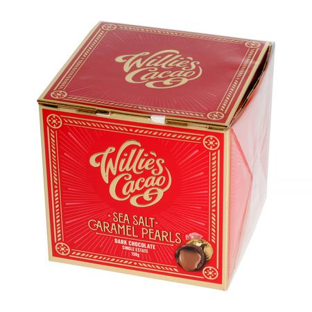 Willie's Cacao -  Sea Salt Caramel Black Pearls 150g
