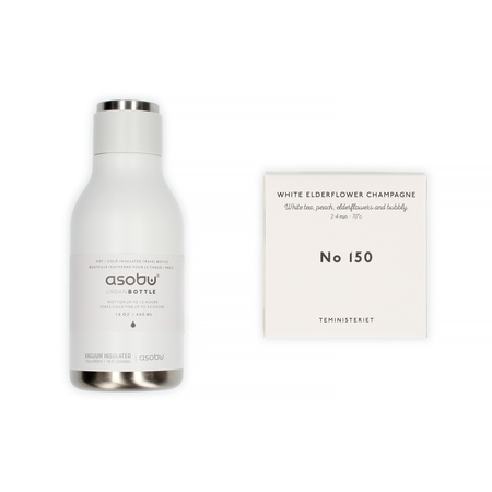 Set: Asobu Travel Bottle + Teministeriet White Elderflower Champagne Tea