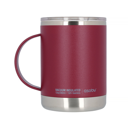 Asobu - Ultimate Coffee Mug Burgundy - Insulated Mug 360ml (outlet)