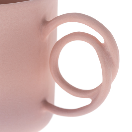 ENDE - 100ml Cup and Saucer - Espresso Wire - Pink