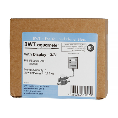 BWT Aquameter Bestmax - Flow meter with LCD display