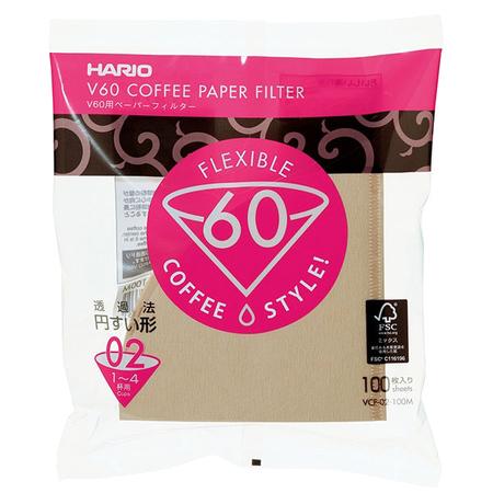 Hario Misarashi brown paper filters - V60-02 - 100 pieces