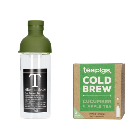 Set: Hario Cold Brew Tea Filter-In Bottle + Teapigs Tea