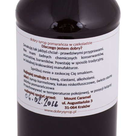 Mount Caramel Dobry Syrop / Good Syrup - Chocolate orange 200 ml