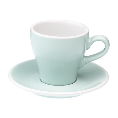 Loveramics Tulip - Cup and saucer - Cappuccino 180 ml - River Blue