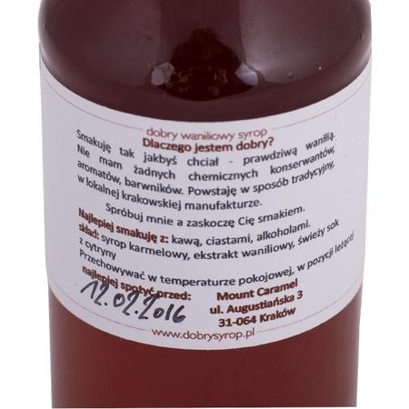 Mount Caramel Dobry Syrop / Good Syrup - Vanilla 200 ml