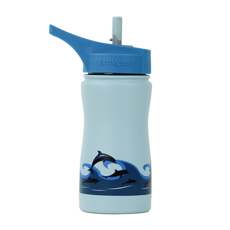 EcoVessel - Insulated Water Bottle Frost - Dolphins 400 ml