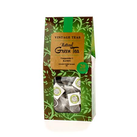 Vintage Teas Natural Green Tea - Gunpowder 1 Kandy - 20 teabags