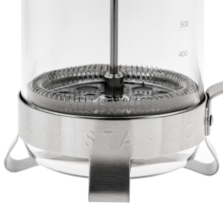 Barista & Co - 8 Cup Plunge Pot - Electric Steel