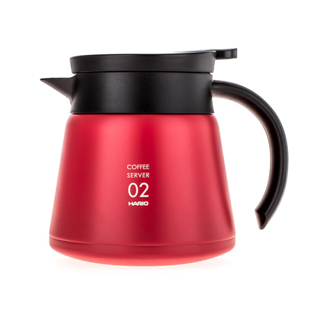 Hario Insulated Stainless Steel Server V60-02 Red - 600ml