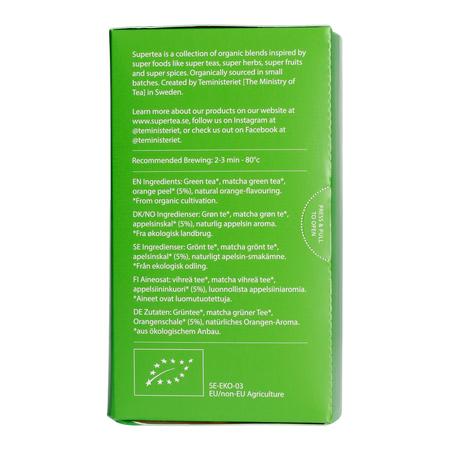 Teministeriet - Supertea Matcha Mandarin Organic - 20 Tea Bags