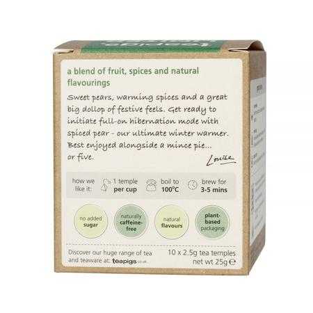 teapigs Spiced Pear Tea 10 tea temples