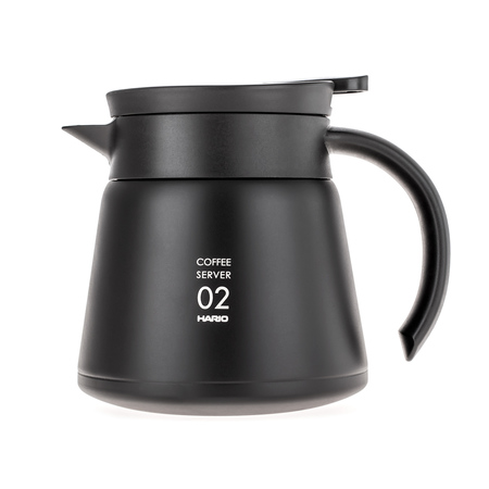 Hario Insulated Stainless Steel Server V60-02 Black - 600ml