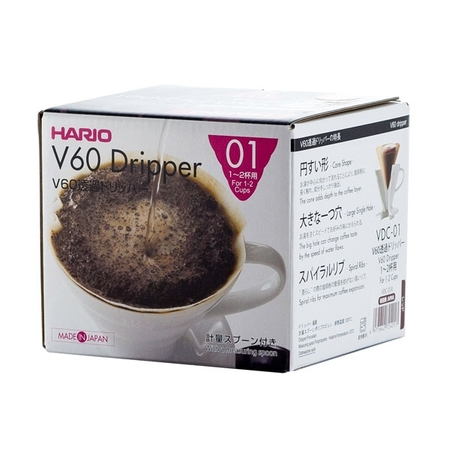 Hario V60-01 Ceramic Coffee Dripper Red