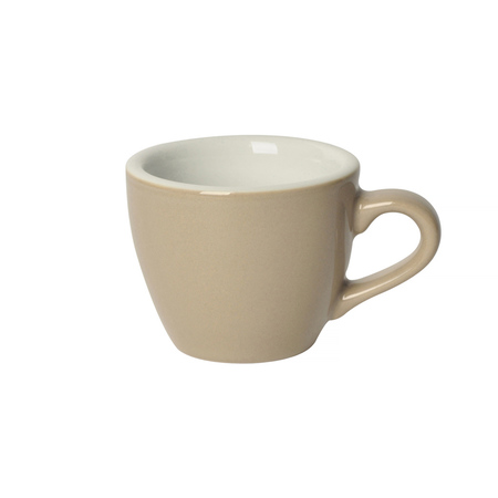 Loveramics Egg - Espresso 80 ml Cup and Saucer - Taupe