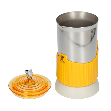 G.A.T. Gatpuccino 4tz Electric Moka Pot with a Frother - Yellow