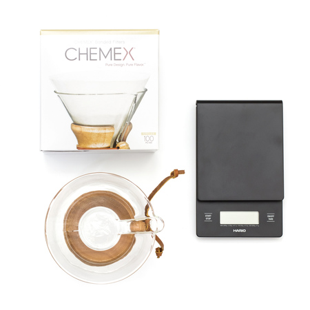Set: Chemex + Filters + Scale