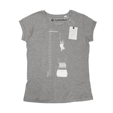 Coffeedesk Chemex Women's Grey T-shirt - L