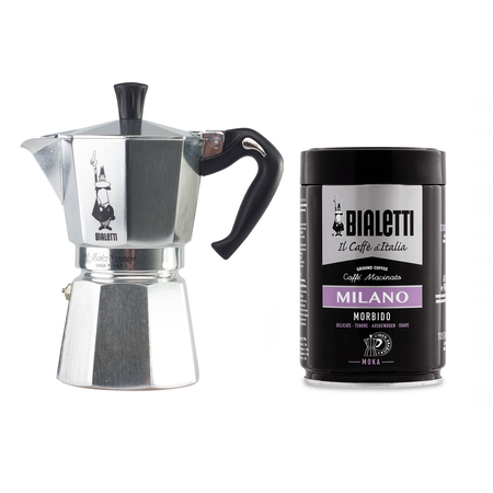 Set: Bialetti Moka Pot + Coffee