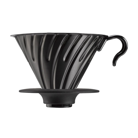 Hario V60-02 Metal dripper with silicone base - Black