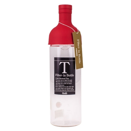 Hario Cold Brew Tea Filter-In Bottle - 750 ml Red
