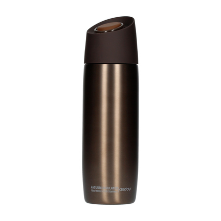 Asobu - 5th Avenue Coffee Tumbler Brown - 390ml Travel Mug