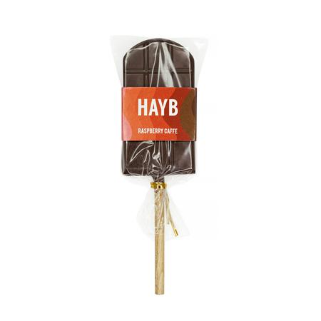 HAYB x Manufaktura Czekolady - Lollipop - Raspberry Caffe - 30g