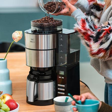 Melitta Aromafresh Therm Black - Filter Coffee Machine with Grinder
