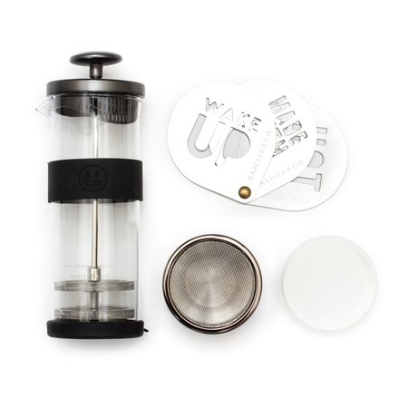 Set: Milk Frother + Cocoa Shaker + Cocoa Stencils